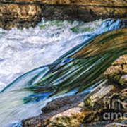 Natural Spring Waterfall Big River Art Print