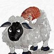 Natural Wool Cat Nap Art Print