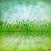 Nature And Grass On Paper Art Print by Setsiri Silapasuwanchai