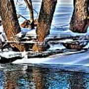 Nature's Icy Abstract No.2 Art Print