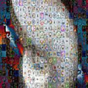 Nautilus Shell Mosaic Art Print