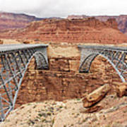 Navajo Bridge In Arizona Art Print