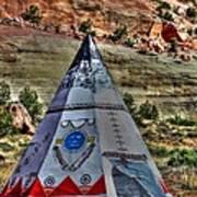 Navajo Trading Post Teepee Art Print