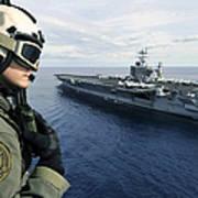 Naval Air Crewman Conducts A Visual Art Print