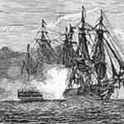 Naval Battle, 1813 Art Print