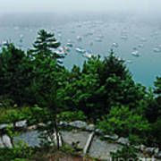 Ne Harbor Maine Seen From Thuya Gardens Mt Desert Island  Art Print