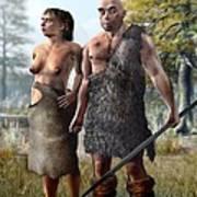 Neanderthals, Artwork Art Print
