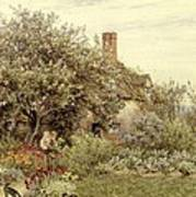 Near Hambledon Art Print by Helen Allingham