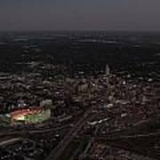 Nebraska Memorial Stadium And Campus Print by PRANGE Aerial Photography