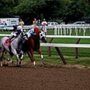 Neck And Neck At Saratoga Two Art Print