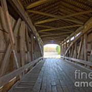 Neet Covered Bridge Interior Art Print