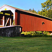 Neff's Mill Covered Bridge In Lancaster County Pa. Art Print