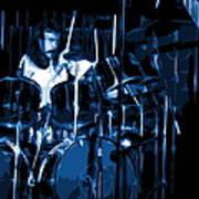 Blue Drums Art Print