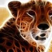 Neon Cheeta Art Print