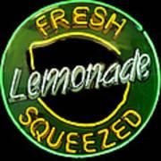 Neon Lemonade Art Print