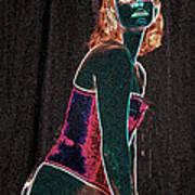 Neon Temptress Art Print