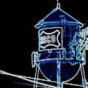Neon Water Tower Art Print