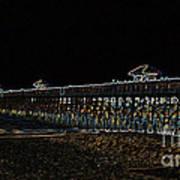 Neoned Pier Art Print