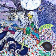 Neptune Rides The Sea Art Print