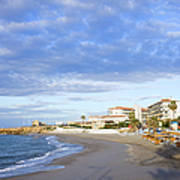 Nerja Beach On Costa Del Sol Art Print