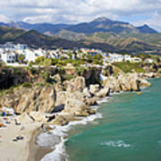 Nerja Town On Costa Del Sol In Spain Art Print