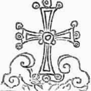 Nestorian Cross, 781 A.d Art Print