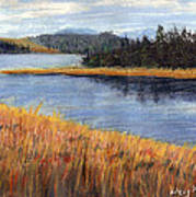 Nestucca River And Bay  Art Print
