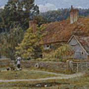 Netley Farm Shere Surrey Art Print
