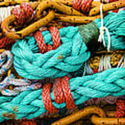 Nets And Knots Number Four Art Print by Elena Nosyreva