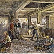 Nevada Silver Mine, C1880 Art Print