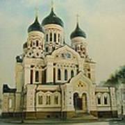 Nevsky Catedral Art Print by Ahto Laadoga