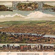 New Brighton Pennsylvania 1883 Art Print