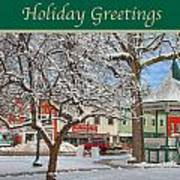 New England Christmas Art Print by Joann Vitali