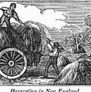 New England: Harvest, 1830 Art Print