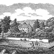New Jersey Farm, C1810 Art Print