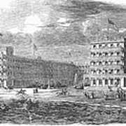 New Jersey Hotel, 1853 Art Print