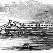 New Jersey: Train Wreck Art Print