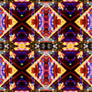 New Mexico Neon Art Print by Glennis Siverson