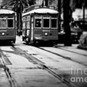 New Orleans Classic Streetcars. Art Print