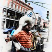 New Orleans Street Musician - Tuba Man Art Print