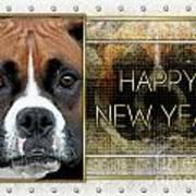 New Year - Golden Elegance Boxer Art Print