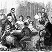 New Years Party, 1857 Art Print