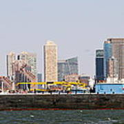 New York And The Barge Art Print