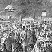 New York: Bandstand, 1869 Art Print