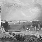 New York Bay, 1838 Art Print