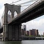 New York Bridges 1- Brooklyn Bridge Art Print