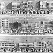 New York: Broadway, 1851 Art Print