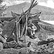 New York: Camping, 1874 Art Print
