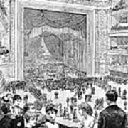 New York Charity Ball, 1884 Art Print