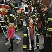 New York City Firefighters Host Art Print